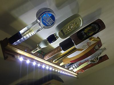 Beer Tap Handle Lot Display Wall Mounted Remote Led Lighted Holds 10 Kegerator