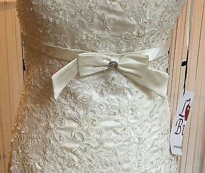 BNWT Beautiful Vintage Inspired Strapless Lace Mermaid Wedding Dress Size 10