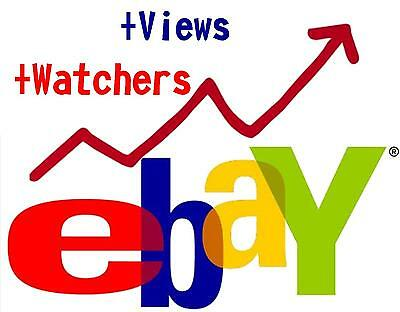 Boost eBay listing rank 5000+ views 30+ watchers SEO Package Selling Fast