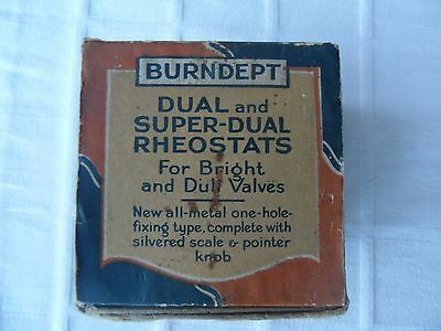 burndept rheostat boxed 744 super dual 60 ohms