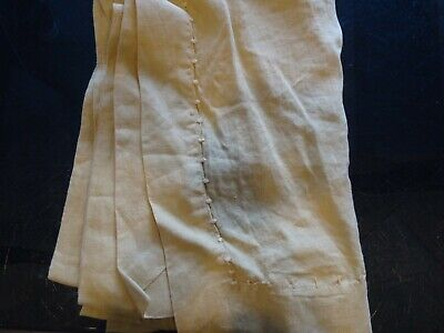 Williams Sonoma Italian linen Washed  Table Runner 17  X 108 gold  wo tag