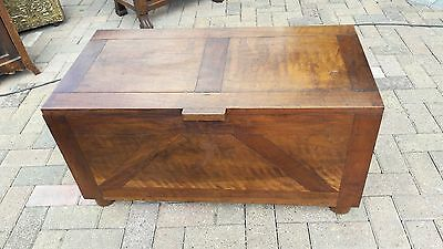 Wooden chest for coffee table or toy box storage