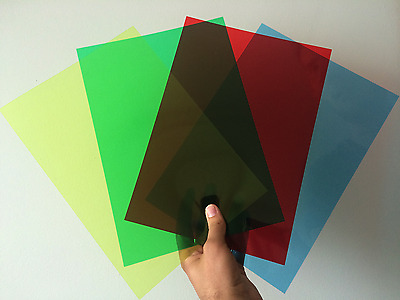 Clear & Coloured Acetate Sheets -Thin Flexible Plastic OHP PVC Craft Filter Film