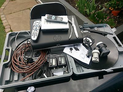 Portable Caravan/Camping Satellite System with SKY HD Box & an SD Freeview Box