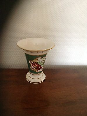 Antique 19th Century Spode Vase with hand painted Flower and gilding c1840