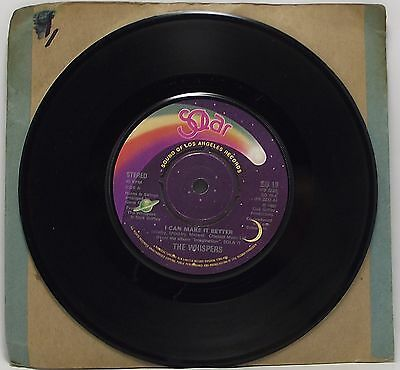 """THE WHISPERS : I CAN MAKE IT BETTER 7"""" Vinyl Single 45rpm VG"""