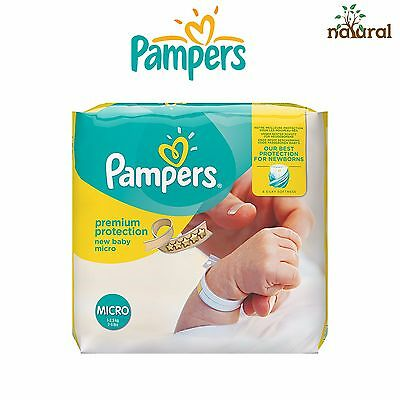 NEW Pampers Premium Protection New Baby Nappies - Size 0, Pack of 144 *UK*