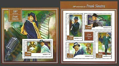 St Thomas And Prince 2015 Films Music Frank Sinatra Smoking Sheets Mnh