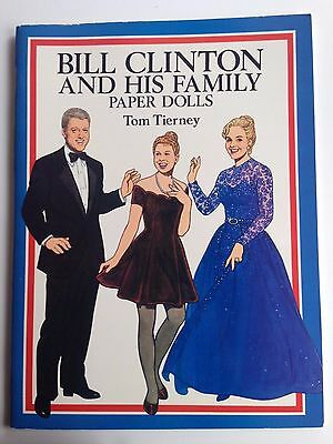 President Bill Clinton and His Family Paper Dolls by Tom Tierney 1994 Hillary