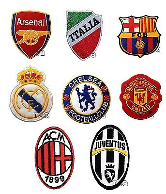 football clubs euro clubs FIFA uk soccer clubs iron on patch badges