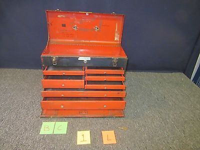 Yorktown Tool Box Kit Chest Artillery Military Metal Tray Lock Drawer Used