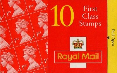 GB QEII 1995 Barcode Cylinder NVI Booklet - 10 x 1st Cl  HD20