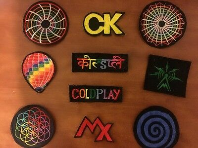 **LAST ONE***10 Embroidered Coldplay Sleeve/jackets Patch With AHFOD