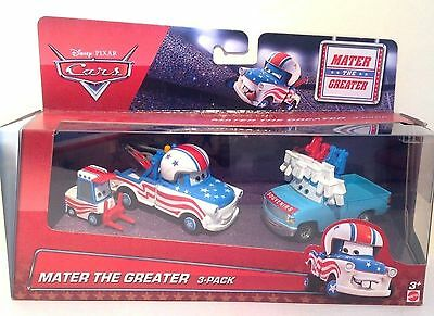 Disney Pixar Die Cast Cars - Mater The Greater 3 Pack - Scale 1:55 - BNIB