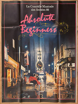 """'ABSOLUTE BEGINNERS' FRENCH VINTAGE 1986 CINEMA POSTER 63"""" x 47"""""""