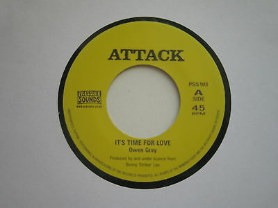 Owen Gray. It's Time For Love.attack Records.. Reissue Free Postage