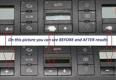 Audi A6 4B 01 -05 CLIMATE TEMPERATURE CONTROL peeling worn buttons button repair