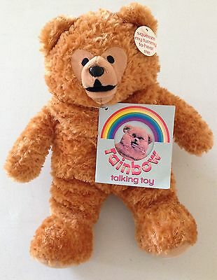 """Official Rainbow Bungle 10"""" Soft Plush Toy With Tags Golden Bear"""