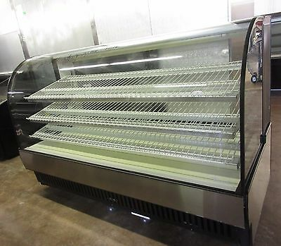 True TCGD-77 Non-Refrigerated Curved Glass Bakery Display Case