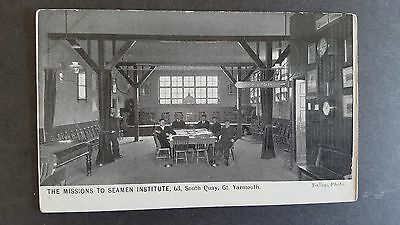 POSTCARD : THE MISSIONS TO SEAMEN INSTITUTE, 63 South Quay, Gt. Yarmouth.