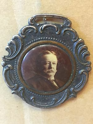 Vintage William Howard Taft President Presidential Campaign Watch Fob 1908