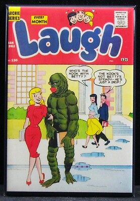 Laugh #130 Comic Cover 2 X 3 Fridge Magnet. The Creature from the Black Lagoon