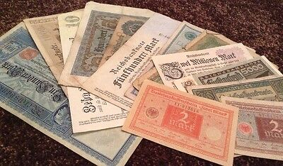 German Banknote Collection. 13 X Banknotes. All Different. Germany.