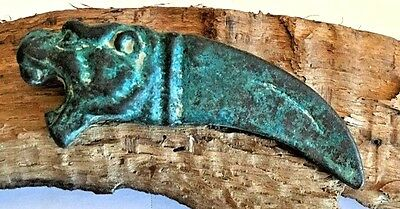 Ancient Ceremonial Dagger Tiger Head & Claw Battlefield Find Middle East 2.89 Oz