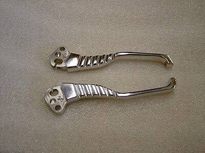 Lambretta Li,sx,gp Series 3 Dog Leg Brake And Clutch Levers In Polished Alloy