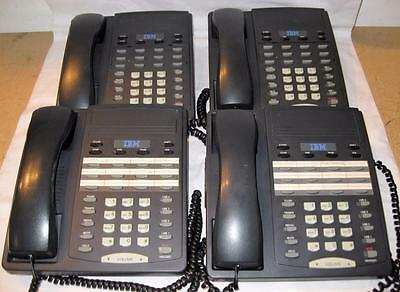 Lot of 4 IBM 412 4-Line Business Telephones        FREE SHIPPING