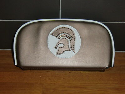 Bronze/ White Trojan Scooter Back Rest Cover (Purse Style)