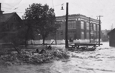 Vtg 1940 - 1950's (Santa Cruz?) California City Flood Flooding Disaster Photo #2