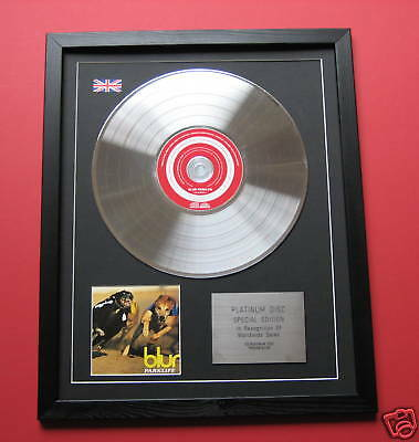 BLUR Parklife CD/ PLATINUM LP DISC Presentation