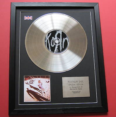 KORN Korn CD / PLATINUM LP DISC Presentation