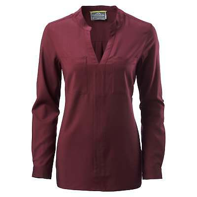Kathmandu Tomar Womens Merino V Neck Casual Long Sleeve Travel Shirt Top