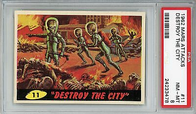 1962 Mars Attacks #11 Destroy The City PSA 8 NM-MT
