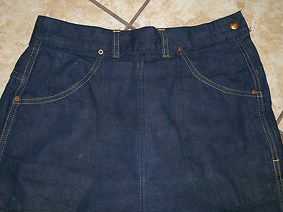 Lee Vintage Womens Blu-Fast Denim High Waist Side Zip 28 x 29 Dark Wash 50's?