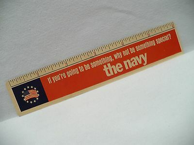 """Vtg THE NAVY 6"""" RULER you're going to be something why not be something special"""