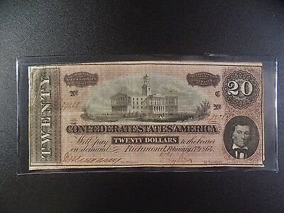 $20 Series  Of  February 17, 1864  Confederate  Note