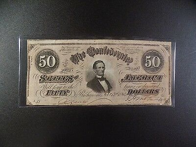 $50 Series  Of  February 17, 1864  Confederate  Note