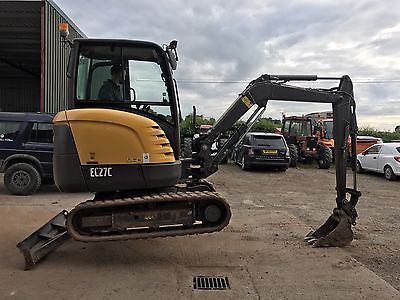 Volvo Ec27c Mini Digger 2010 With Trailer
