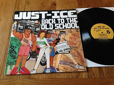 Just Ice LP Back To The Old School Hip Hop Rap Fresh Records LPRE 001 1986