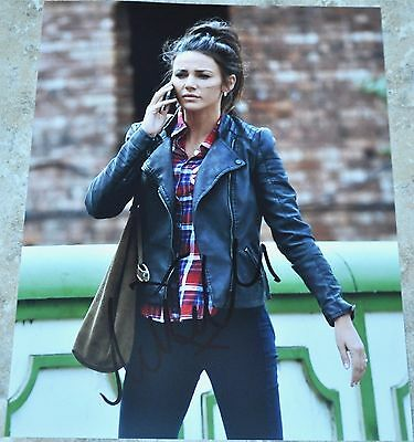 """Michelle Keegan Signed 10"""" x 8"""" Colour Photo Our Girl Coronation Street"""