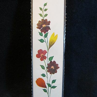 Flowers From Holy Land BOOKMARK-Historic Israel Photos on Back-Sturdy-Sealed-NEW