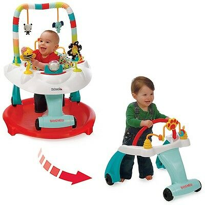 Kolcraft BABY Sit and Step 2-in-1 ACTIVITY CENTER Bear Hugs WALKER PLAY TOY NEW