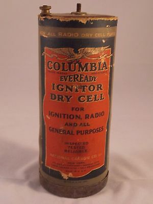 Vintage 1924 Eveready Columbia Ignitor Dry Cell - Radio, Ignition