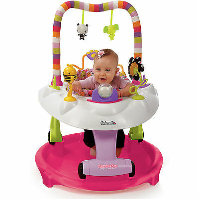 Kolcraft BABY Sit and Step 2-in-1 ACTIVITY CENTER PINK Bear Hugs WALKER SAUCER