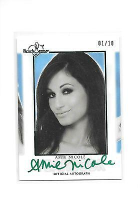 2015 Benchwarmer Signature Series Amie Nicole Green Foil HFT Yearbook Auto 1/10