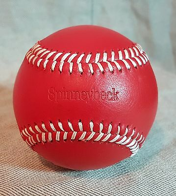 Superb Spinneybeck Baseball Red leather with Yellow stitching