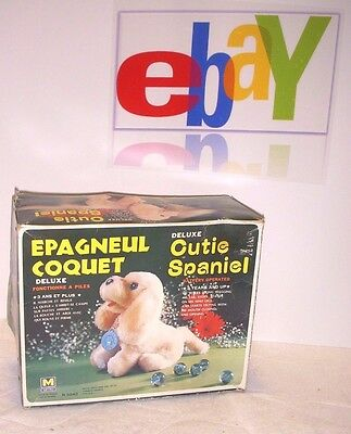 Vintage Cute Spaniel Puppy Dog - Battery Operated Works - 1971 - Walks - Yelps